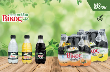 Vikos Soft Drinks with stevia