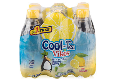Tea & Lemon Flavoured Drink Cool-Tea Vikos 0,33L